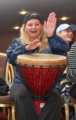 Drumming workshop in action