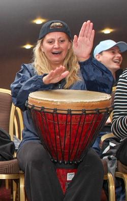Drumming workshop in action