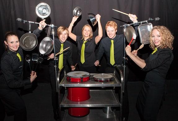 Crashing Waiters dinner entertainment