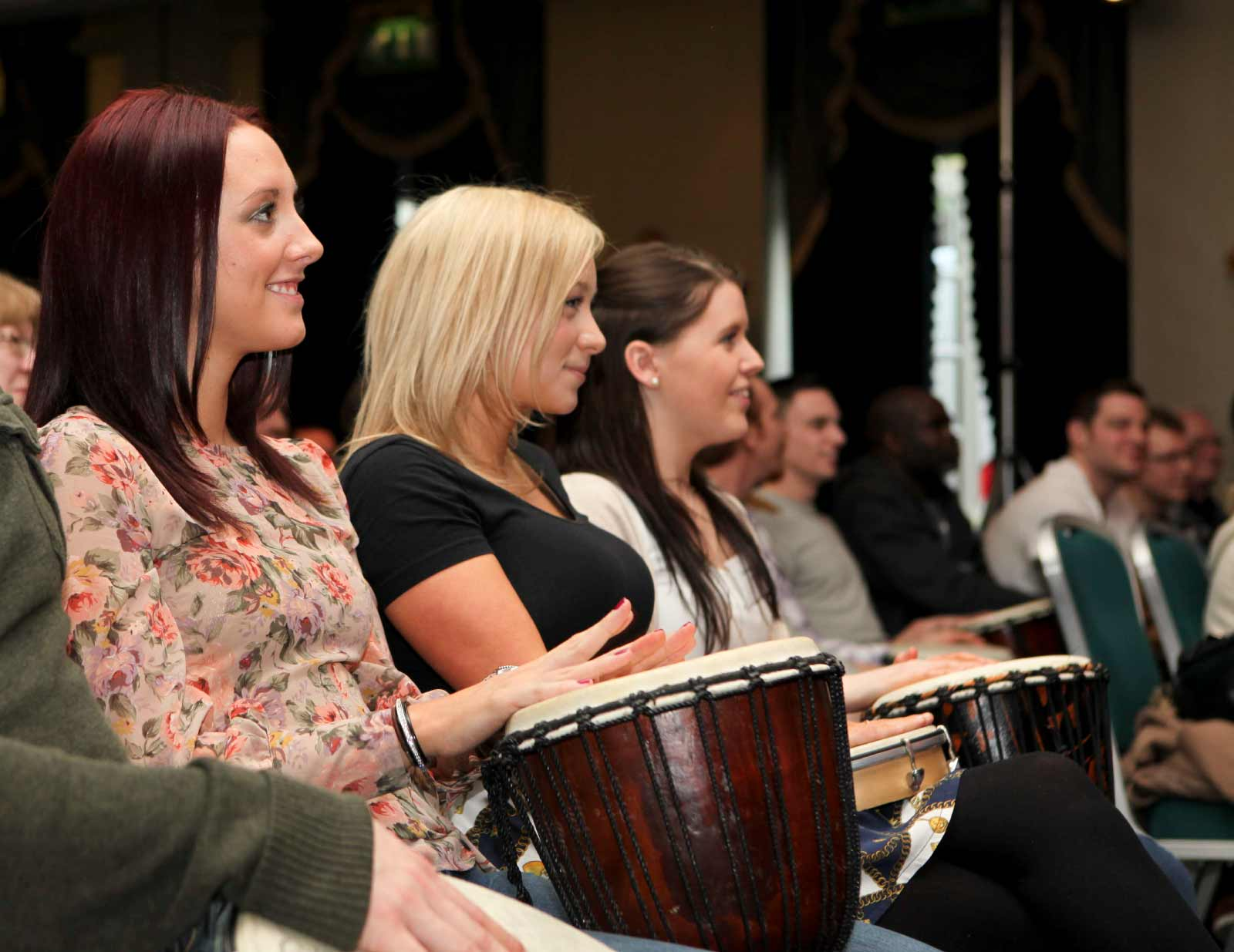 a drumming event