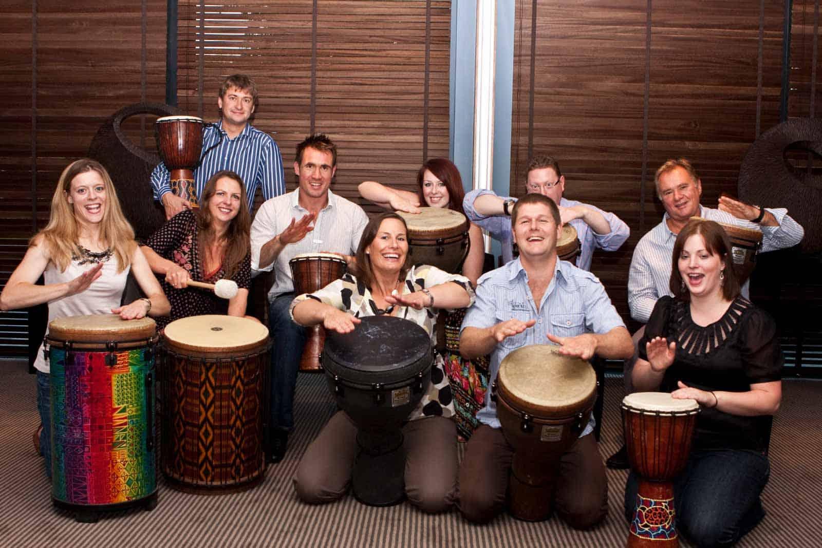 Team building drumming
