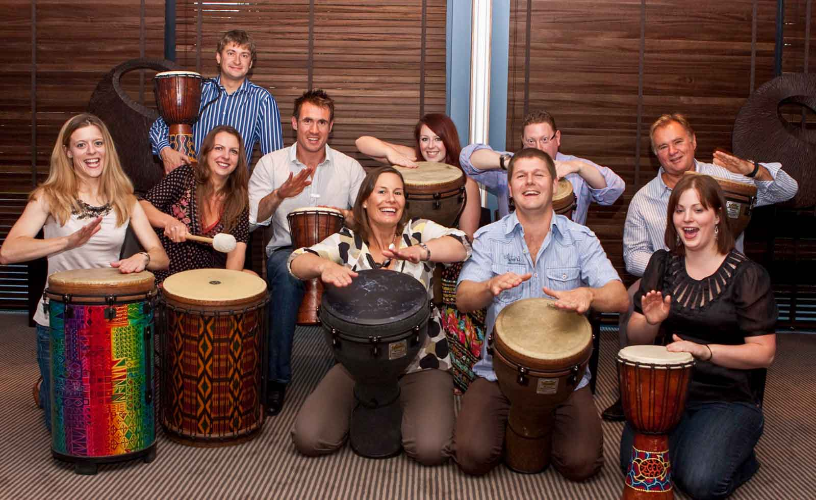 Home page showing drumming
